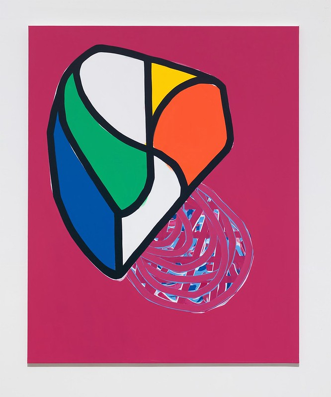 Soo-Kyoung Lee Fushia fonce Acrylic 162x130cm 2014