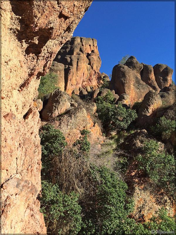Dramatic cliffs in the sun