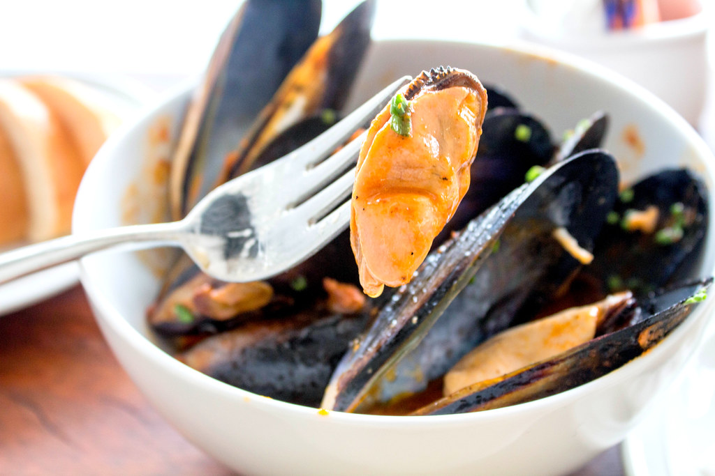 South Union Park: Mussels On Fork