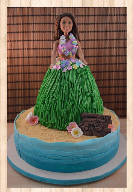 Hula Girl Doll Cake by Aileen Hernandez of Aileens Kitchen