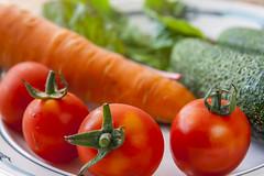 Vegetables on Saucer