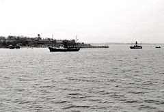 Lightships Seven Stones and Mid Barrow in front of Felixstowe - 1968