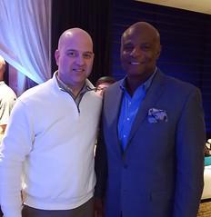 Quick chance to hang with Warren Moon during the #BellevueFW's #IndependentRunwayShow!  #legend #WarrenMoon #NFLLegend #NFLHOF