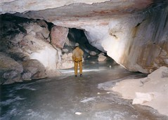 Bea in Ice cave in Tier Garten Image