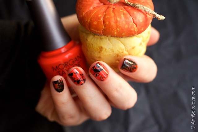 11 Morgan Taylor Halloween Collection 2014   Orange Crush swatches splatter nails