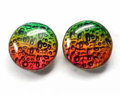 """polymer clay Large 3/4"""" Stud Earrings"""