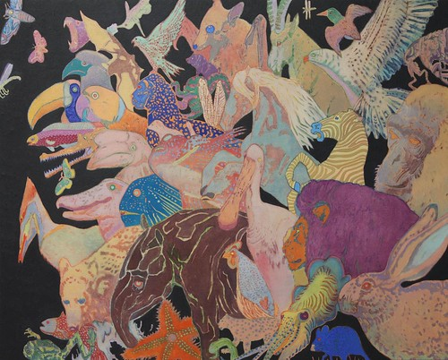 Aaron Morse, Philisophical Creatures, 2014, acrylic and oil on canvas