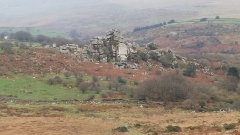 Vixen Tor from Heckwood Tor #dartmoor #sh