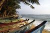 Boats on Mirissa beach