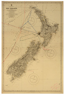 Search map for missing aviators George Hood & John Moncrieff (1928)