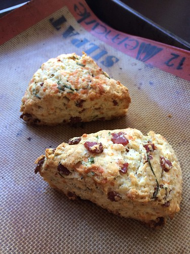 Bacon cheese & chive scones
