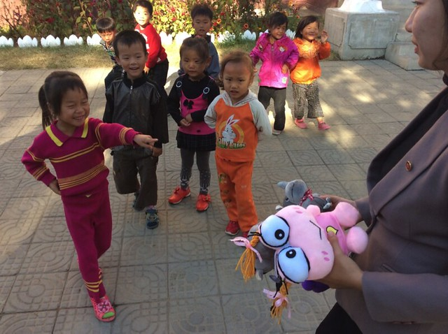 Donations to the kids at Nampho Orphanage - Thomas Shubbuck's Pictures from North Korea