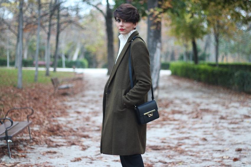 abrigo verde largo