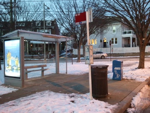 Shovelled bus stop, Kansas Avenue NW