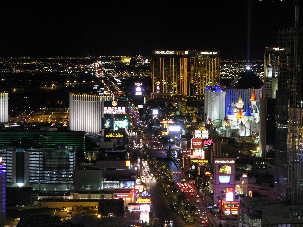 View of the strip from the Eiffel Tower Experience - Las Vegas