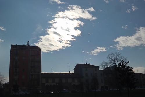 Il cielo in questa mattina d'inverno