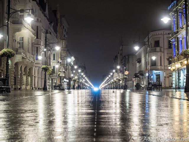 Lodz Poland @ Night