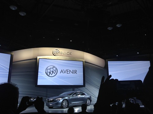 PIC: 1st look at @Buick's flagship sedan #Avenir! @GM #NAIASGM #gmdiversity #NAIAS2015 #naias