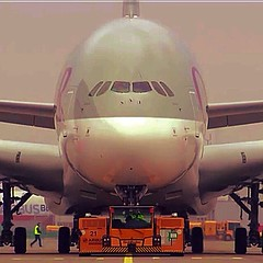 Qatar Airways A380:  #Aviation #Aircraft #airbus #a380 #airport #Airline #Qatar