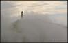 Faro entre la niebla-- lighthouse-- Iceland