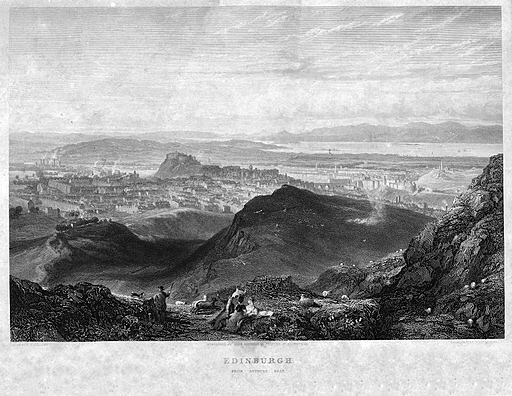 Edinburgh_from_Arthur's_Seat_engraving_by_William_Miller_after_H_W_Williams_low_res