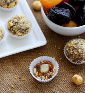 Dried fruit truffles