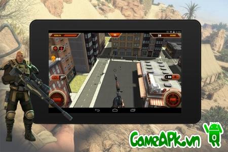 Lính bắn tỉa sát thủ 3D v1.0 hack full tiền cho Android
