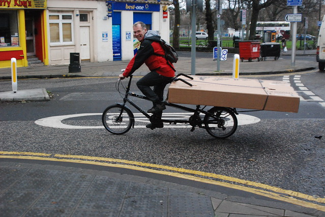 Big box by bike