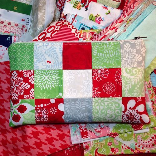 "Solstice patchwork pouch 6"" x 10"""