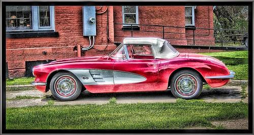 Corvette 1960s Classic Car ~ Geneva Ny ~ HDR