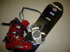 slalom snb Choc Race C + nášlapné Fast force + bot - titulní fotka
