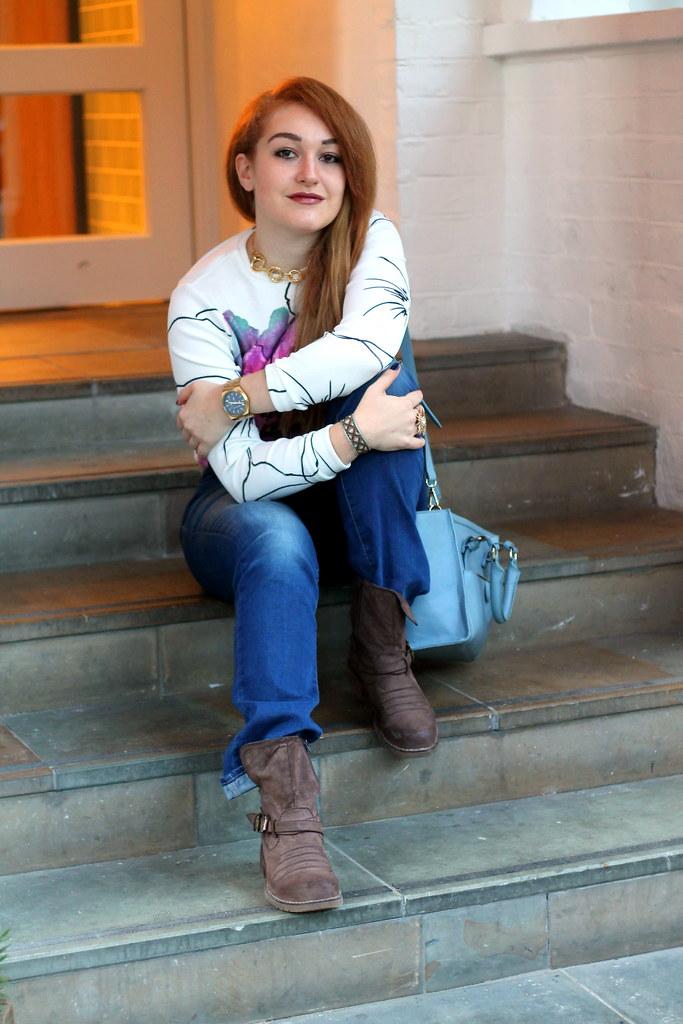Asos petal crop jumper, bootcut jeans (3)