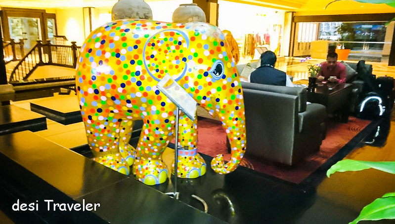 Elephant Painted with polka dots for Elephant Parade