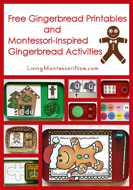 Montessori-Inspired Gingerbread Activities Using Free Printables