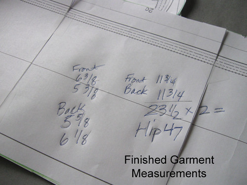 garment measurements ex