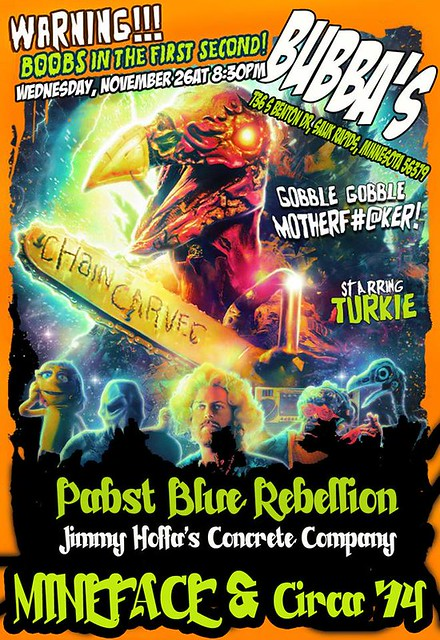 11/26/14 Pabst Blue Rebellion/ Jimmy Hoffa's Concrete Co./ Mineface/ Circa '74 @ Bubba's Bar & Grill, Sauk Rapids, MN