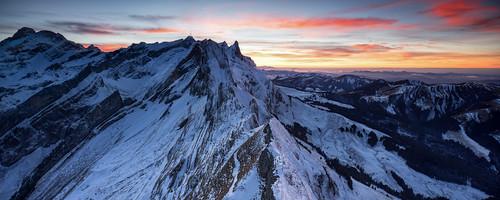 schnee sunset panorama snow mountains alps canon schweiz switzerland sony shift 24mm blau alpha tilt sonneuntergang tse appenzell alpstein a7r schäfler hitech0 innerhoden shiftpanorama 9segitzo2542losnovoflexcb3ii2