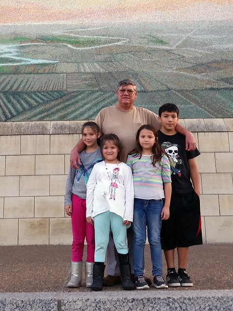 My uncle and his grandkids