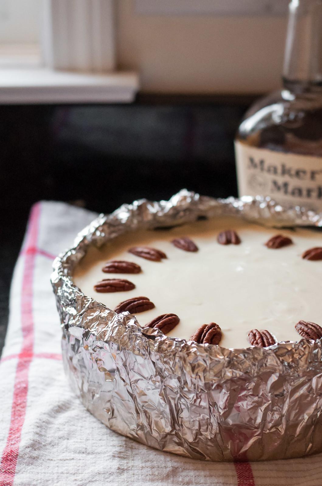 Finished pumpkin bourbon cheesecake
