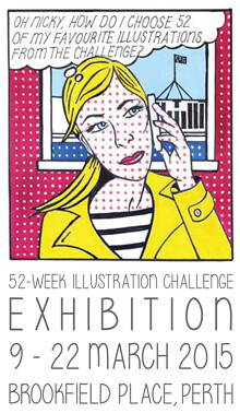 Exhibition poster by Penny Fisher