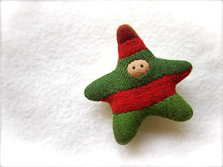 Scrappy Christmas STAR: tan