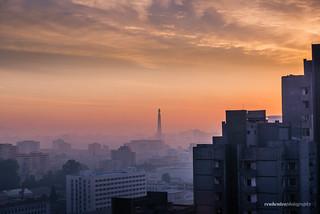 Juche Tower Sunrise