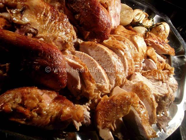 Dinde Rôtie dans son Jus & Purée de Patate Douce © Ana Luthi Tous droits réservés