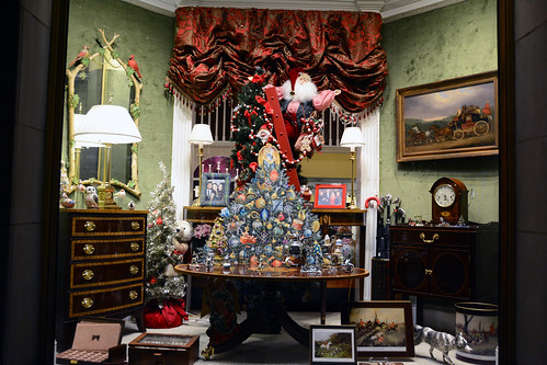 Picture Of 2014 Holiday Window 1 Of Scully & Scully Located At 504 Park Avenue At 59th Street In New York City. Scully & Scully Is A High End Home Goods Store. Photo Taken Thursday December 18, 2014
