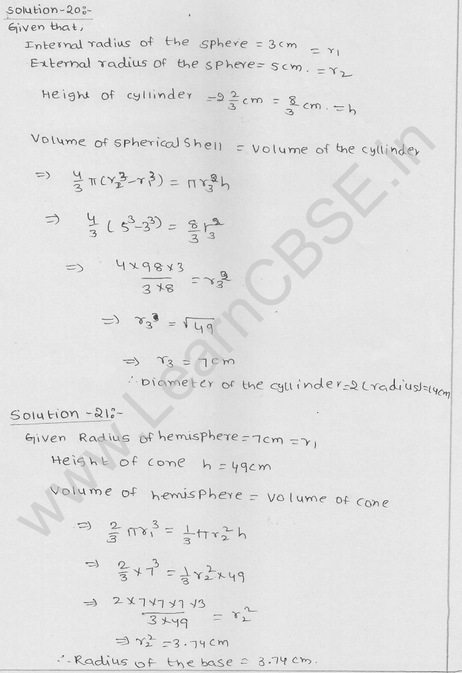 RD Sharma Class 9 solutions Chapter 21 Surface Area and volume of A Sphere Ex  21.1 23