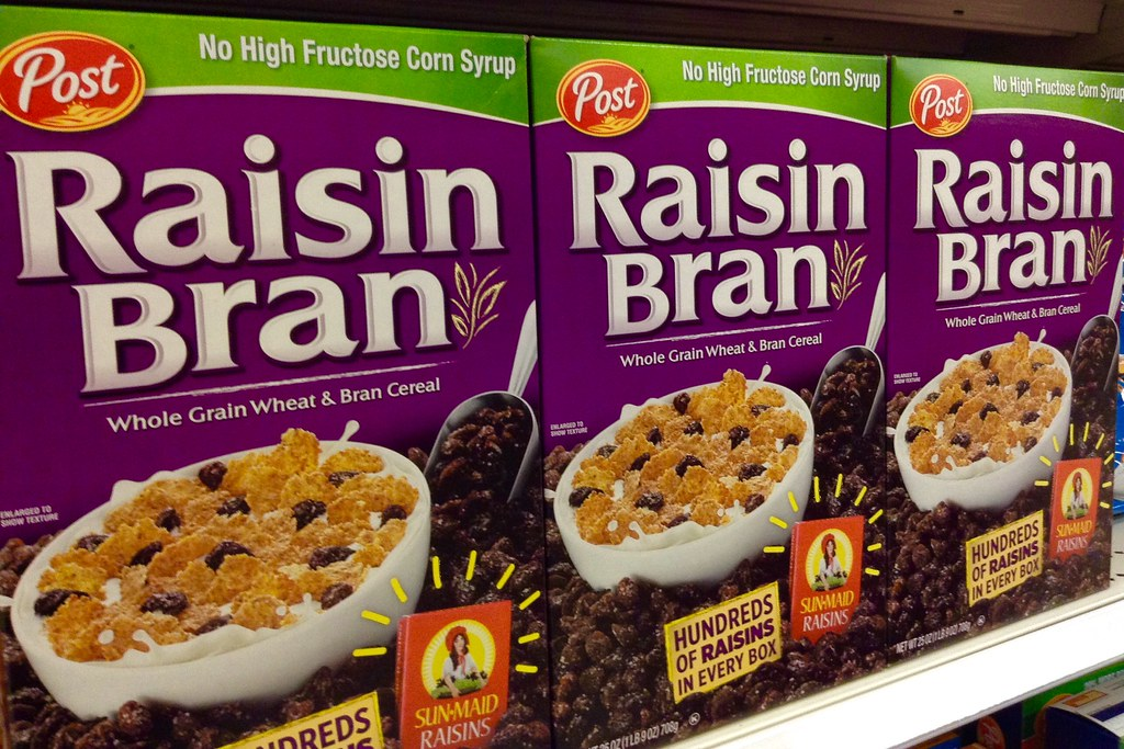 raisin bran Cereal POST, ready-to-eat, cereals