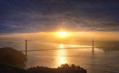 SF and Golden Gate Sunrise
