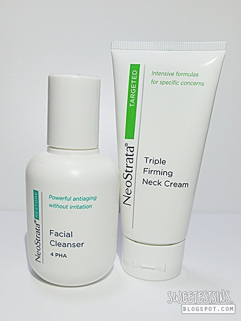 neostrata facial cleanser 4 PHA and neostrata triple firming neck cream