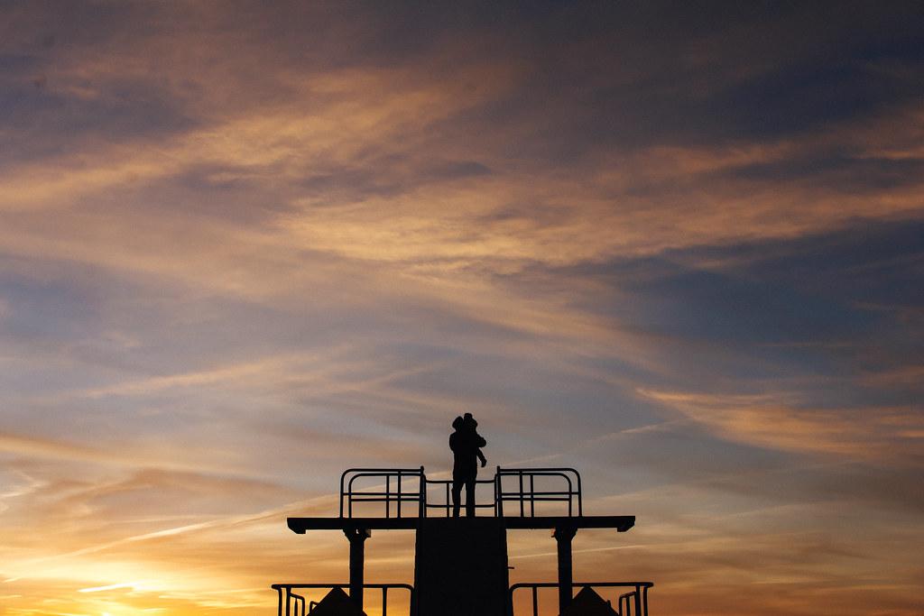 Pink Orange Sunrise & Silhouette Galway Bay, Ireland