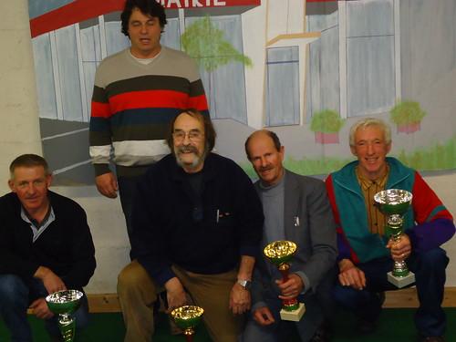 10/01/2015 - Saint Martin des Champs : Les finalistes du concours de boules plombées en doublettes mêlées